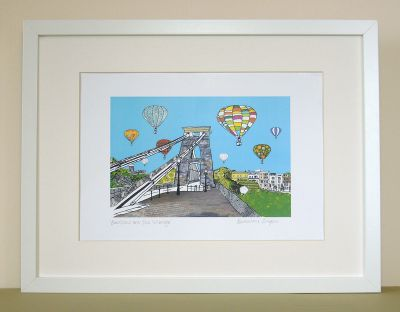 Balloons over the Toll Bridge Bristol Print