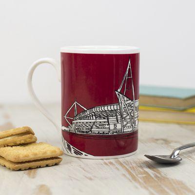 Cardiff Principality Stadium Mug, Red