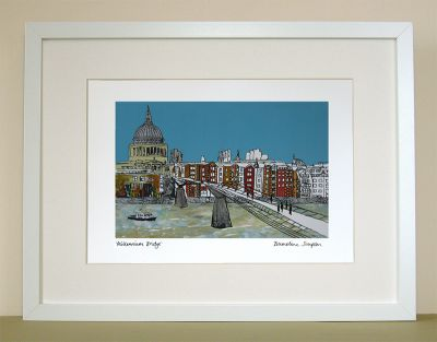 Millennium Bridge London Print