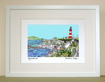 Plymouth Hoe A4 Signed Print