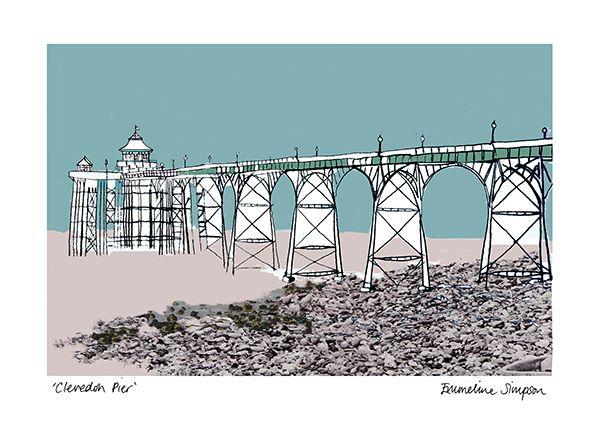 Clevedon Pier A3 Print