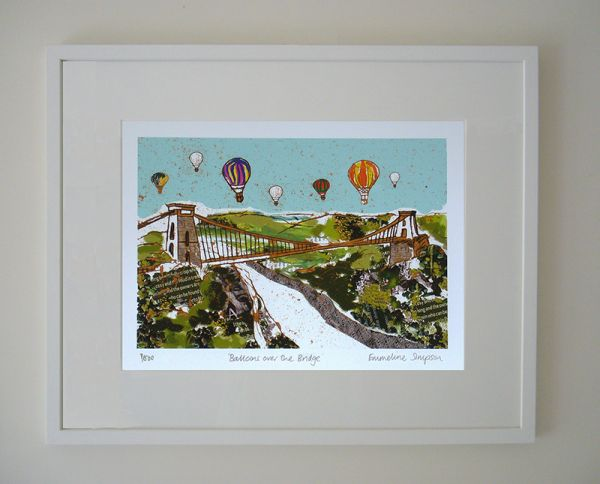 Balloons over the Bridge Limited Edition Bristol Print