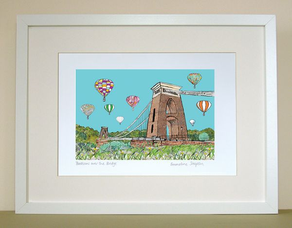 Balloons over the Bridge II A4 Signed Print