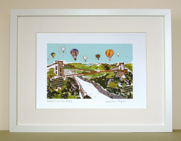 Balloons over the Bridge Bristol Print