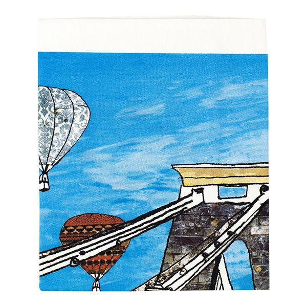 Balloons over the Toll Bridge Bristol Tea Towel