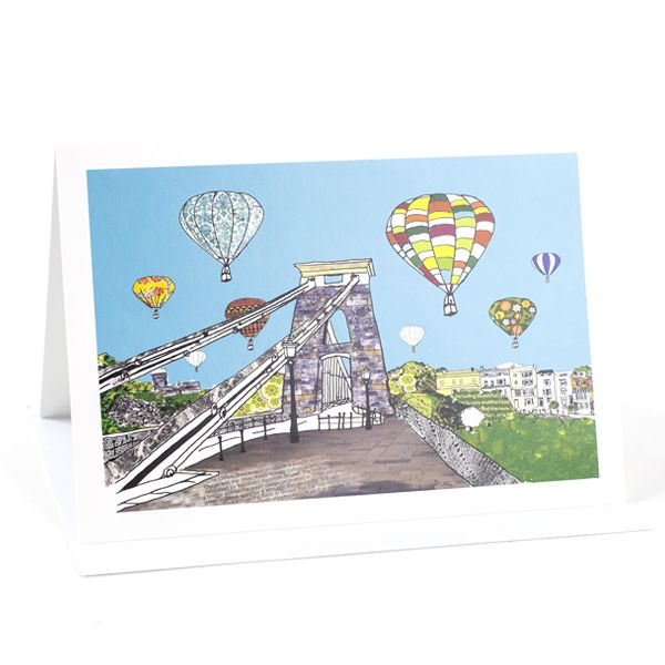 Balloons Over the Toll Bridge,  Bristol Greetings Card