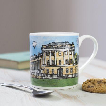 Royal Crescent Bath Colour Bone China Mug