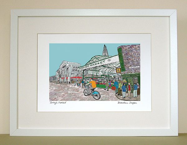 Borough Market A4 Signed Print
