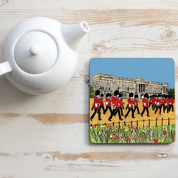 Buckingham Palace Teapot Stand Square