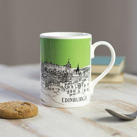 Edinburgh Mug Green