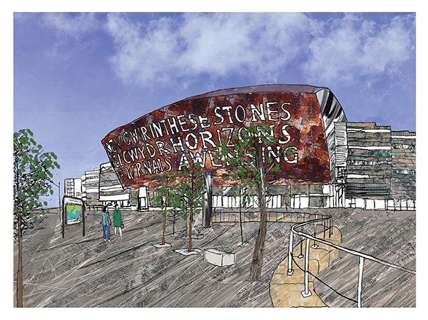 Cardiff Millennium Centre Greetings Card