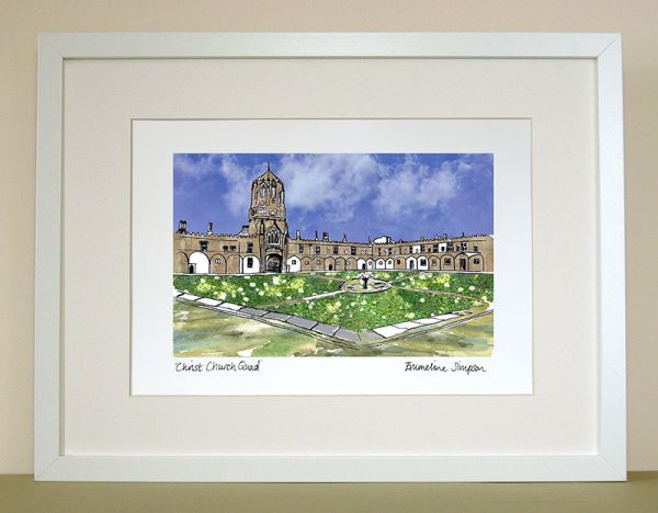 Christ Church Quad Oxford Print
