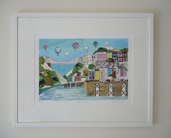Clifton Balloons Limited Edition Bristol Print