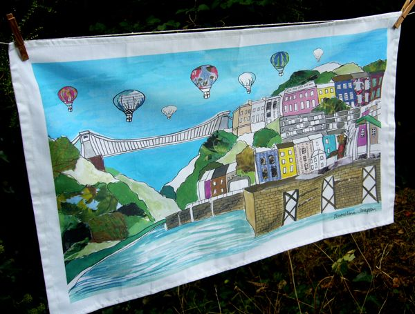 Clifton Balloons Bristol Tea Towel full colour