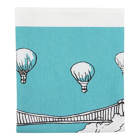 Clifton Balloons Bristol Tea Towel Teal