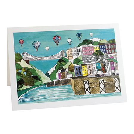 Clifton Balloons Bristol Greetings Card