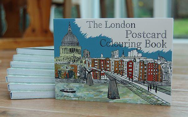 London Postcard Colouring Book