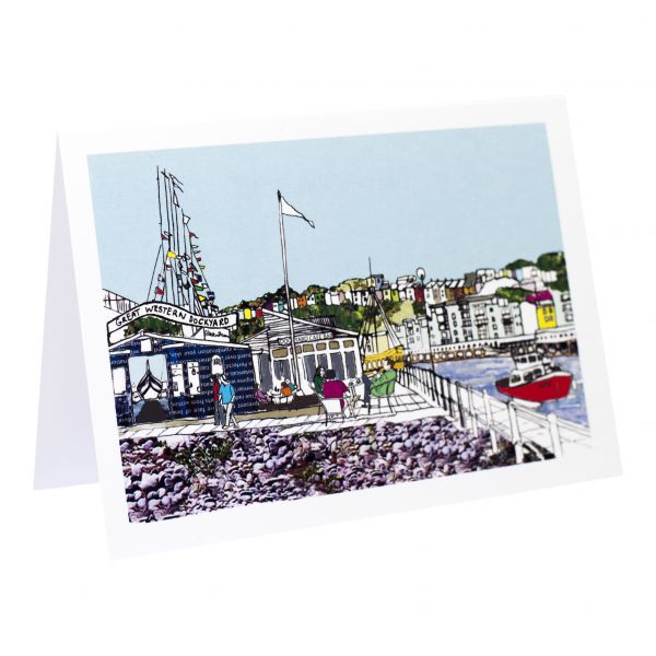 Dockyard Cafe Bristol Greetings Card