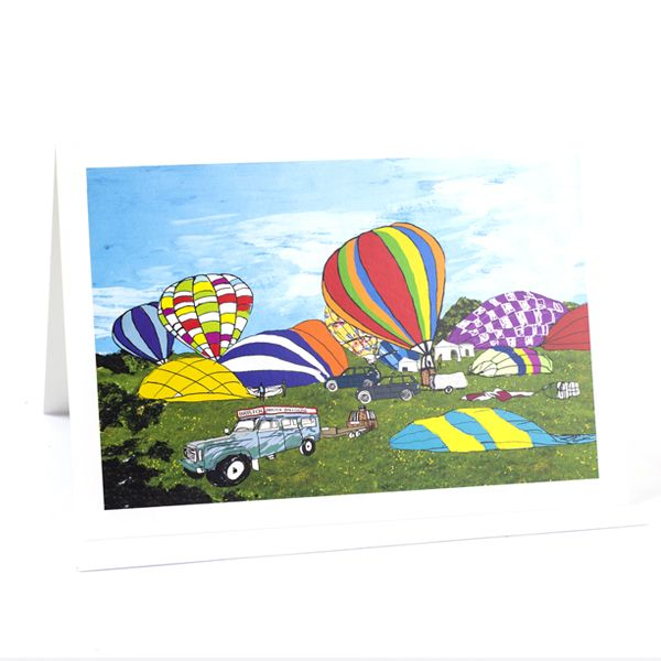 Early Balloon Ascent Greetings Card