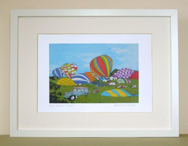 Early Balloon Ascent Bristol Print