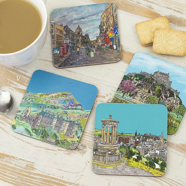 Set of Four Edinburgh Coasters