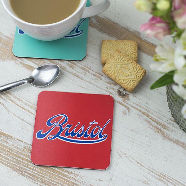 Bristol Logo Red Coaster