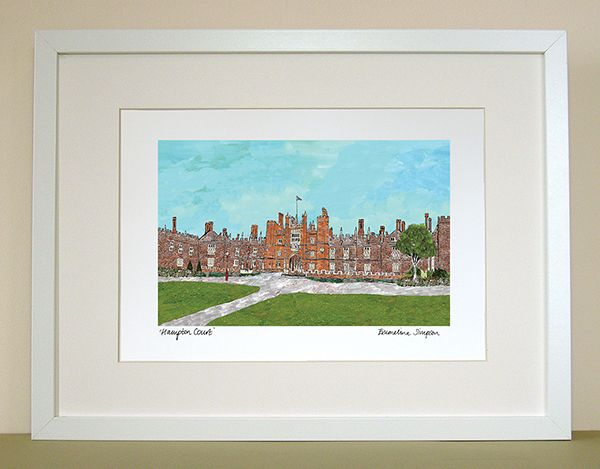 Hampton Court London A4 Signed Print