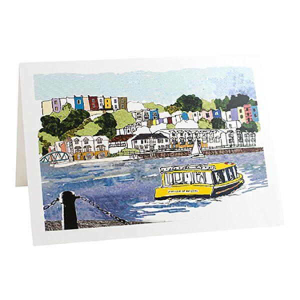 Harbourside View Greetings Card