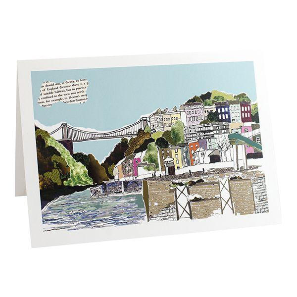 Hotwells View Bristol Greetings card
