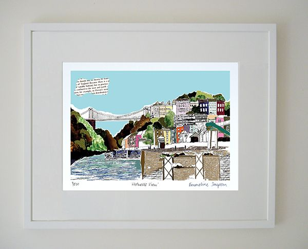 Hotwells View Limited Edition Bristol Print