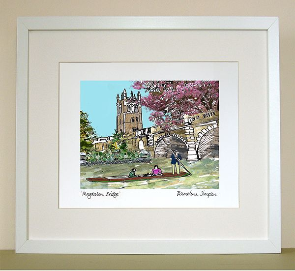 Magdalen Bridge Oxford Print