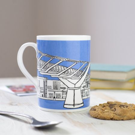 Millennium Bridge London Mug Blue