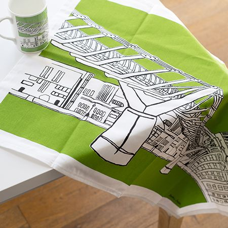 Millennium Tea Towel Green