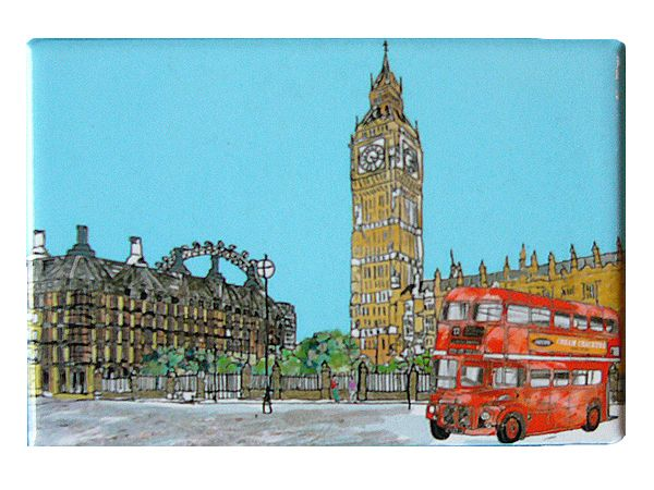 Parliament Square London Fridge Magnet