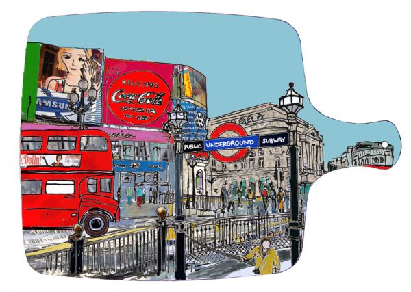Piccadilly Circus London Chopping board