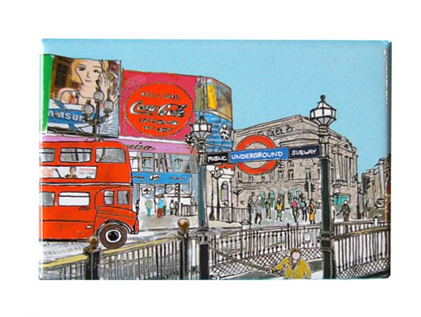Piccadilly Circus London Fridge Magnet