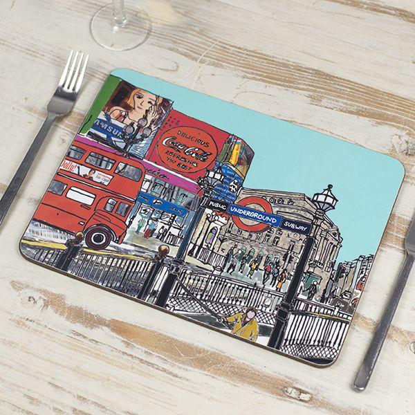 Set of Six London Placemats