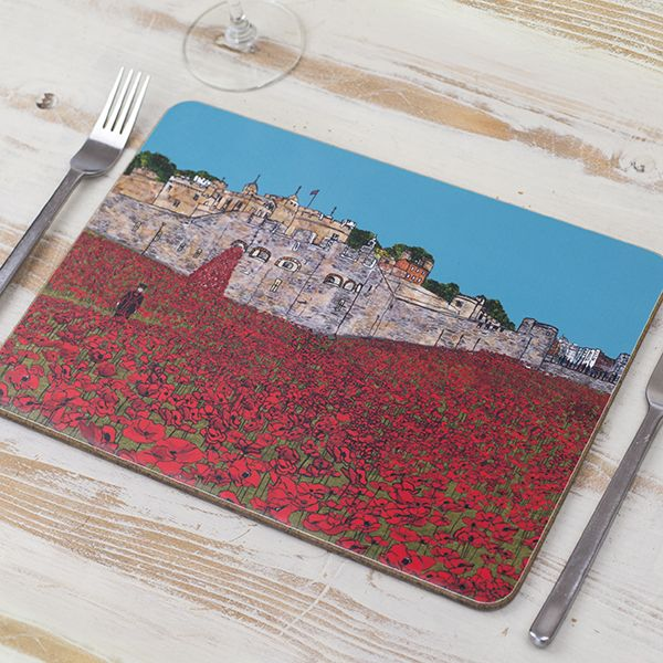 Tower of London Poppies Placemat