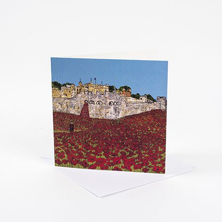 Poppies at the Tower of London Greetings Card