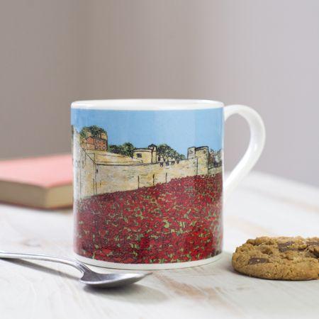 Poppies at the Tower London Bone China Mug