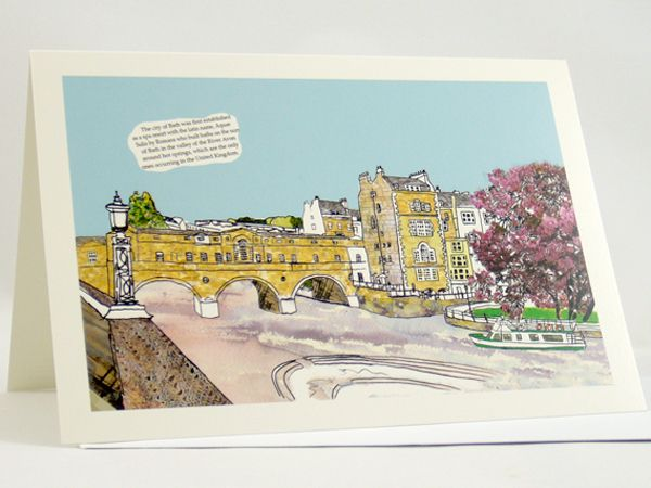 Pulteney Bridge Bath Greetings Card