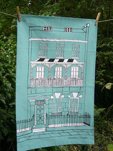 Regency Town House Tea Towel