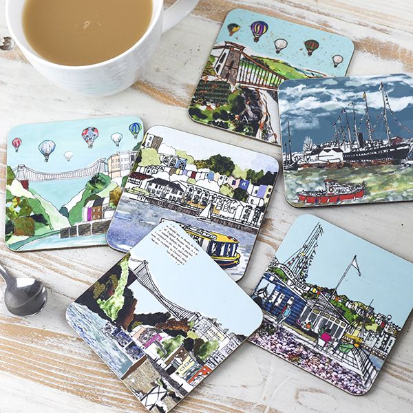 Set of Six Bristol Coasters