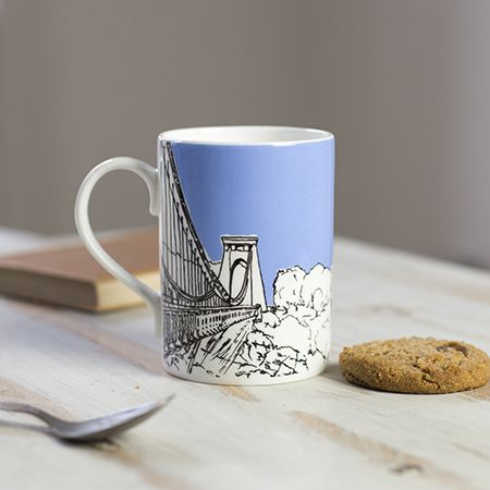 Sion Hill Blue Bone China Mug