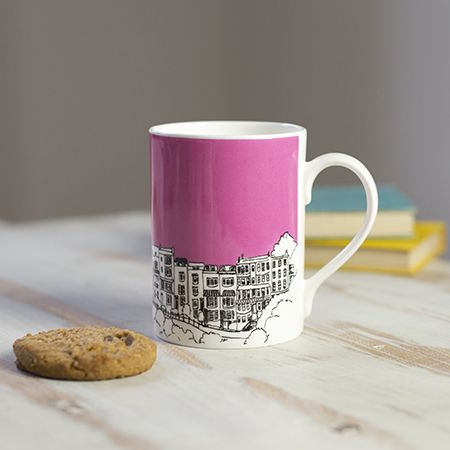 Sion Hill Pink Bone China Mug