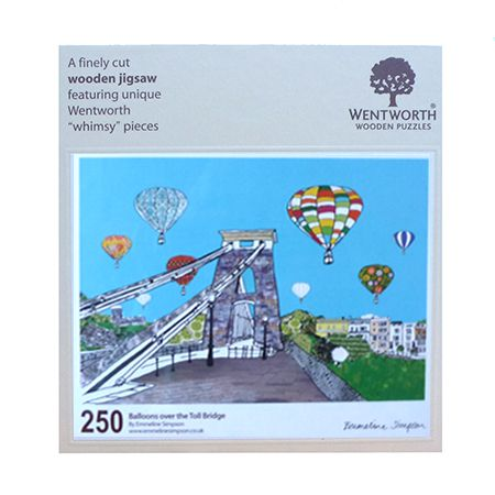 Balloons Over the Toll Bridge Large Jigsaw