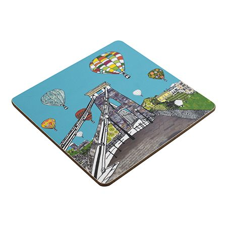 Balloons over the Toll Bridge Teapot Stand Square