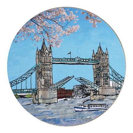 Tower Bridge Teapot Stand Circular