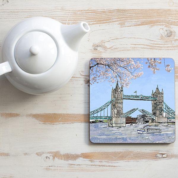 Tower Bridge Teapot Stand Square