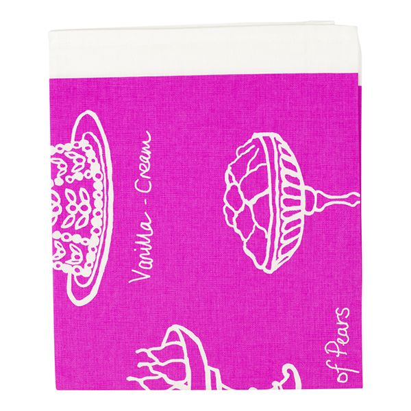 Victorian Desserts Tea Towel Pink